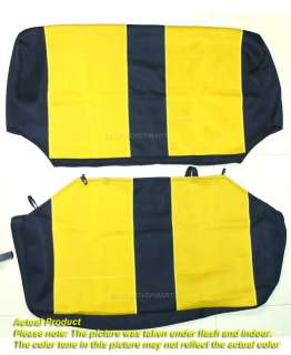 02 Neoprene Front & Rear Car Seat Cover Full Set Yellow tj127