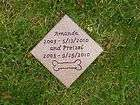 pet memorial marker burial plaque cemetery head stone for dog