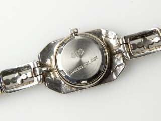 Silver and Marcasite Ladies Quartz Wrist Watch (Square)