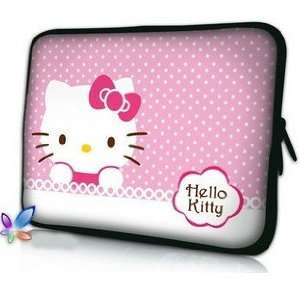 14 Pink Polka Dot Pattern Hello Kitty Style Laptop Case