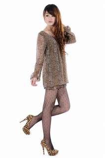 Fashion Style Women/Ladies Leopard Color High Heel Shoes Size #4~#8