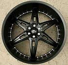 VERDE ALLUSION 24 SEMI BLACK RIMS WHEELS TITAN PICKUP TRUCK / 24 X 9