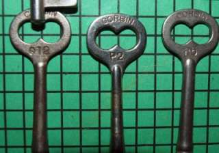 21 Old Vintage Antique Skeleton Keys 2  3 inches in length Corbin