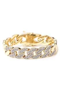 Juicy Couture Frozen Chain Small Pavé Link Bracelet
