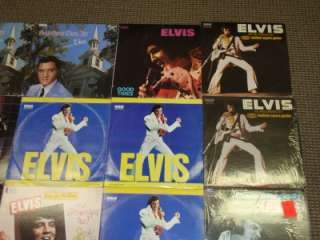 ELVIS PRESLEY (28) LP COLLECTION LOT VINYL ALBUM HUGE!!! SHRINK BLUE