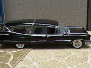 PRECISION MINIATURES 1959 CADILLAC SUPERIOR CROWN ROYALE HEARSE BLACK