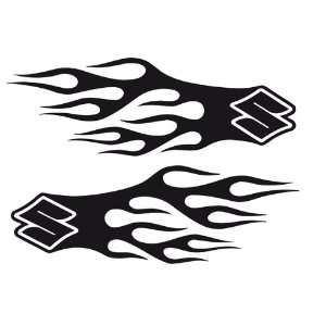 Bike Motorcycle Vinyl Decals Suzuki $ Flames Sport 015
