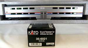 Level 4 Window Cab Coach Car   Amtrak Phase III   Kato 35 6021