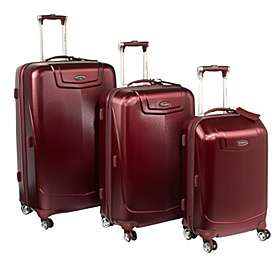 Silhouette 12 Hardside 3 Piece Luggage Set Red