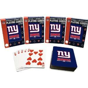 Specialties New York Giants Playing Cards  4 Pack Sports & Outdoors