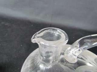Sgnd Escalier De Cristal,Paris Cut Glass Duck Decanter