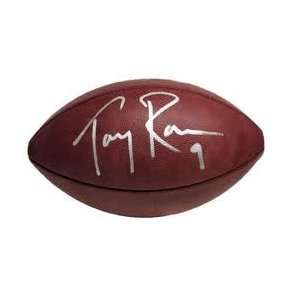 TONY ROMO DALLAS COWBOYS,SIGNED NFL FOOTBALL WITH PROOF