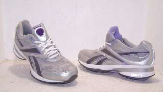 Reebok EasyTone Ree Inspire Workout Sneakers Grey Purple Womens Size 8