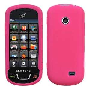 HOT PINK SILICONE SKIN CASE FOR SAMSUNG T528G COVER