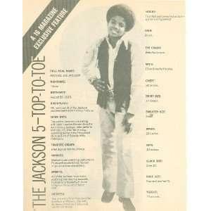 1971 Jackson 5 Michael Jackson Marlon Jermaine Tito