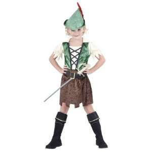 Pams Childrens Robin Hood Girl Fancy Dress Costume