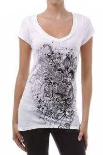 Fleur De Lis Rhinestone Sublimation Tee Top Shirt Tunic