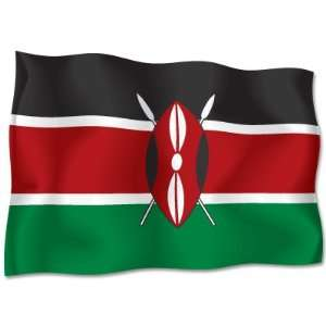 KENYA African Flag car bumper sticker decal 6 x 4