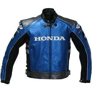 Joe Rocket Honda CBR Leather Jacket   50/Blue/Silver/Black