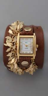 La Mer Collections Multi Leaf Charm Watch  SHOPBOP