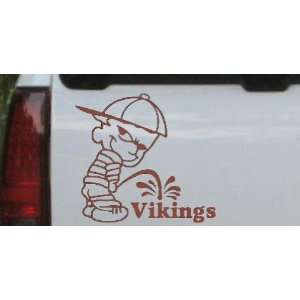 Pee On Vikings Car Window Wall Laptop Decal Sticker Automotive