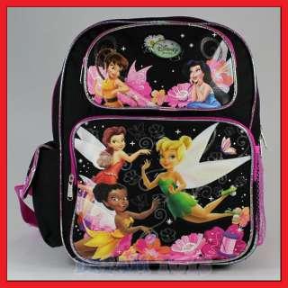 Disney Tinkerbell 14 Toddler Black Backpack   Med Bag
