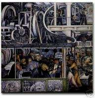 Diego Rivera Mural Ceramic Art Tile Detroit Industry S