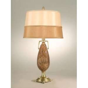 Dale Tiffany Art Glass One Light Table Lamp with Antique