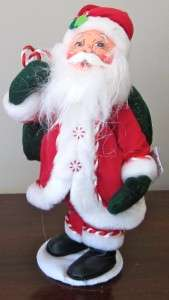 NWT $50 ANNALEE PEPPERMINT SANTA CLAUS CHRISTMAS COLLECTIBLE FIGURE