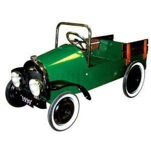Charm Co Classic Green Metal Pedal Pickup Truck