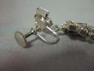 1930s Crystal Rhinestone Dangle Earrings Flapper Girl