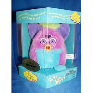 FURBY BABIES PINK WITH BLUE TUMMY, PURPLE INNER EARS
