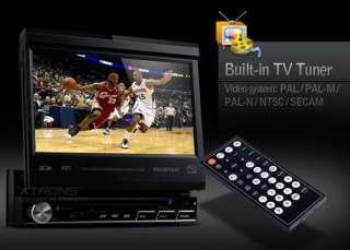 LCD 1 SINGLE DIN CAR IN DASH TV CD DVD PLAYER GPS 10