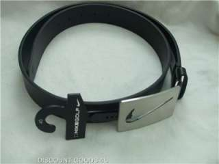 NEW NIKE GOLF BELT BLACK MENS NIKE BELT WITH METAL BUCKLE SIZE 40