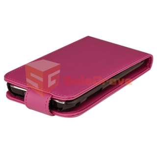 Pink Flip Leather Case Cover for Samsung Galaxy S Plus