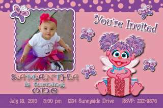 Abby Cadabby Sesame Birthday Invitation Personalized