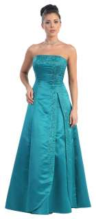 LONG FORMAL ELEGANT BRIDESMAIDS DRESSES PLUS SIZES STRAPLESS SEQUINED