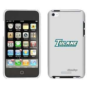 Tulane Green Wave on iPod Touch 4 Gumdrop Air Shell Case
