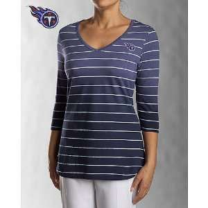 Titans Womens 3/4 Sleeve Goal Line T Shirt Medium: Sports & Outdoors
