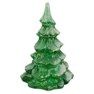 Fenton 4 Inch Tall Christmas Tree Figurine, Emerald Glass Color Home