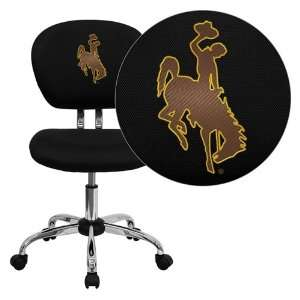 Flash Furniture Wyoming Cowboys and Cowgirls Embroidered Black