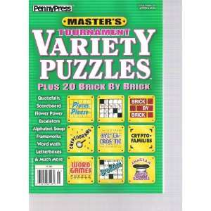 Masters Tournament Variety Puzzles (Spring 2012) Various