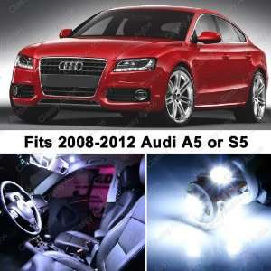 Audi A5 S5 WHITE LED Lights Interior Package Kit 8T3 (8 Pieces)