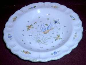 Decor Vieux Faience Moustiers Yellow Blue Bird Bowl