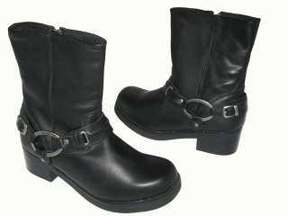 DAVIDSON CHRISTA AFTER RIDING BLACK LEATHER WOMENS TALL BOOTS 9.5