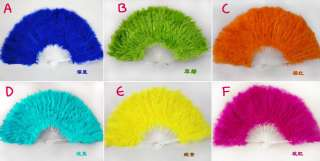 Dance Fluffy Soft Feather Costume Hand Held Folding Fan