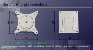 Single Monitor Slim Wall Mount Bracket WB SL Black ~26