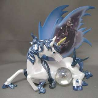 Harmony Unicorn Figurine with Fairy art of Nene Thomas