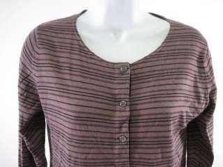 MARGARET HOWELL Purple Black Stripe Shirt Sz M