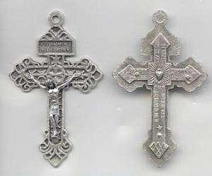 Large PARDON 2.25 Crucifix Cross Rosary Parts ITALY